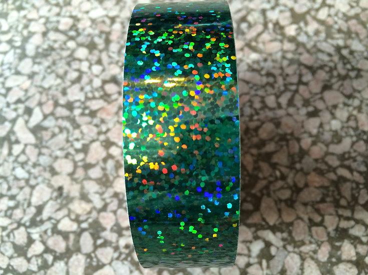 "1"" Green Glitter Tape"