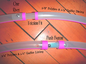 Hula Hoop Connections Grip Tape Push Button Rivet Gaffer Line Polypro
