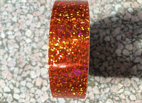 """1"""" Orange Glitter"""