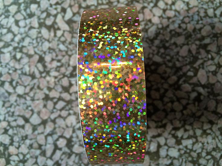 "1"" Gold Glitter Tape"