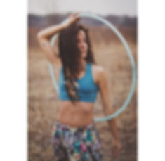uv Blue Polypro hula hooper, gHwc sponsored hula hooper, birds of life bralette happy world clothing