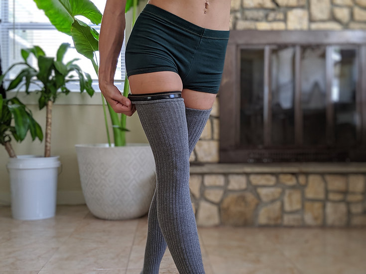 Non Slip Grip Rib Knit Leg Warmers