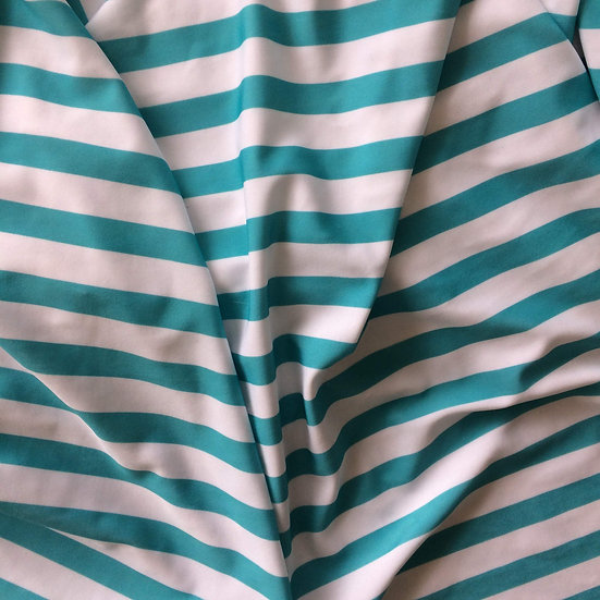 Teal Stripes Spandex | You Pick