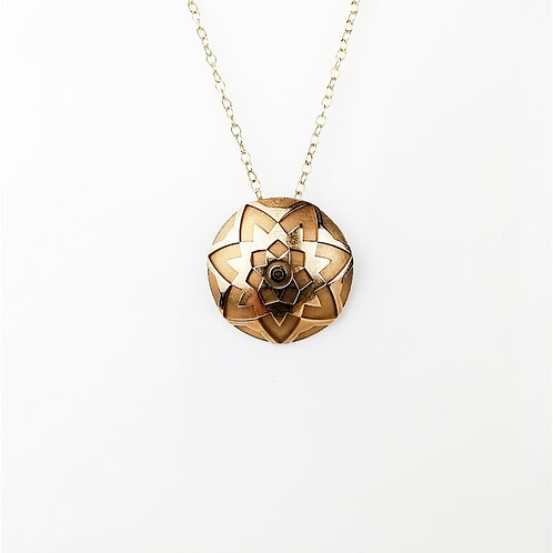Starburst Necklace - Large - Solid Yellow Gold