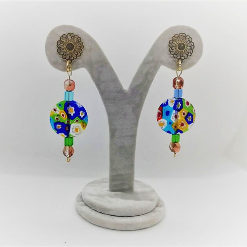 Venetian Earrings - Millefiori