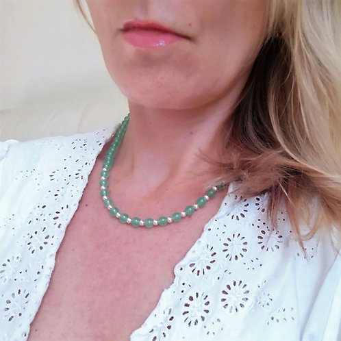 Green Aventurine Necklace for calm, support and comfort