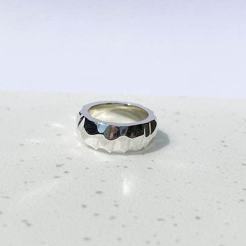 Sterling Silver Rock Ring - Wide