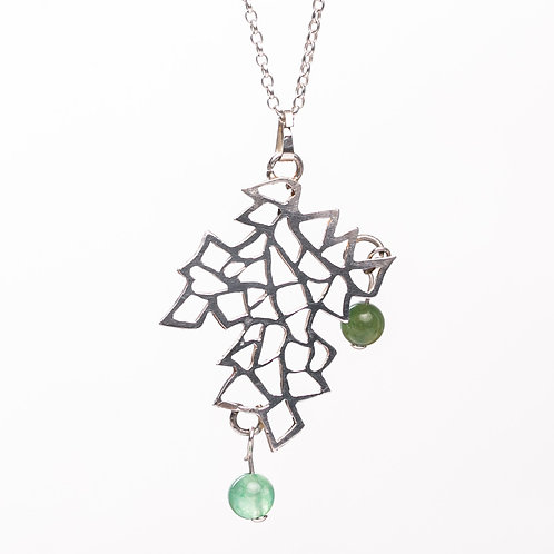 Sterling Silver Filigree Necklace with Agates