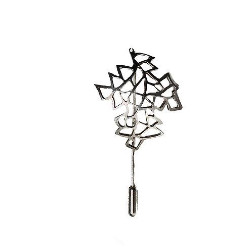 Silver Leaf Brooch/Tie Pin