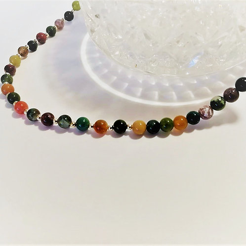 Indian Agate Necklace for strength, stability and balance