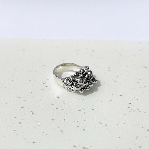 Sterling Silver Lava Ring