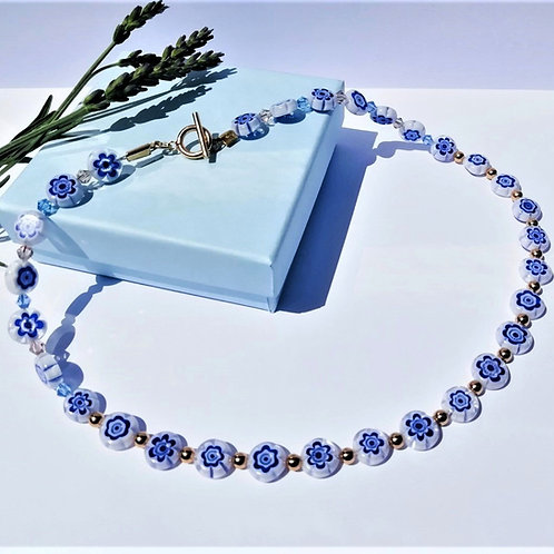 Blue Venetian Necklace