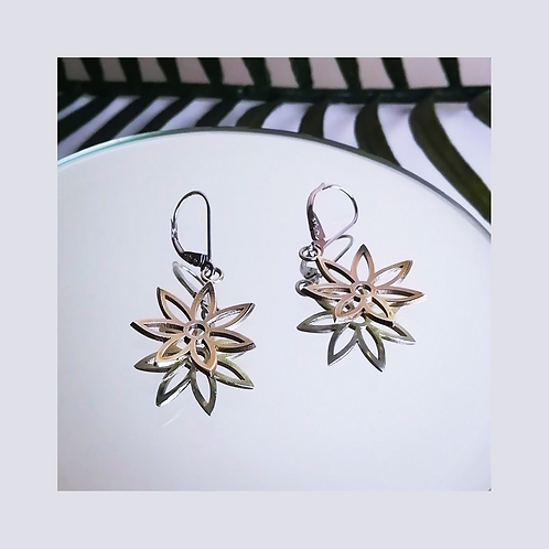 Palm Beach Drop Earrings - Solid White Gold