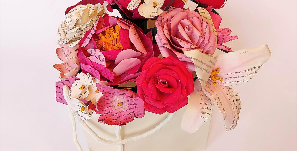Pretty in pink flower gift bag