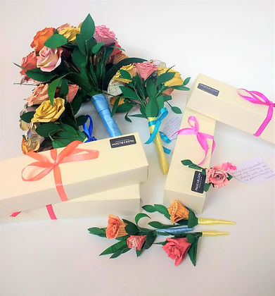 Paper wedding flowers sustainable