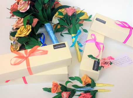 Paper wedding flowers for sustainable weddings