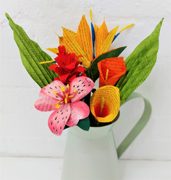Summer Flower Bouquet - Tropical - White