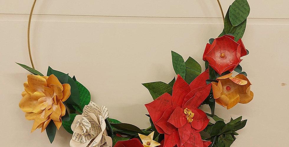 Asymmetric paper wreath