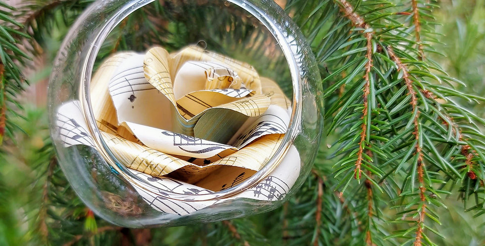 Glass tree baubles