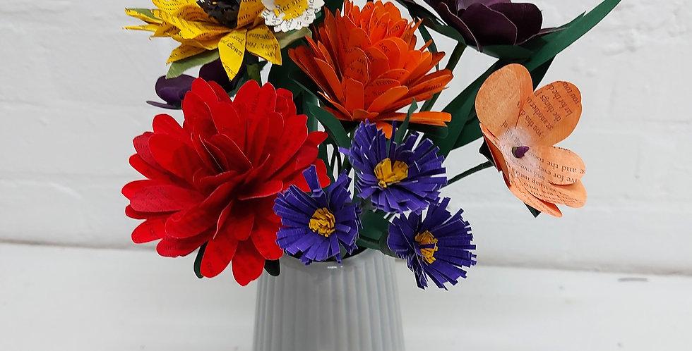 Autumn paper bouquet