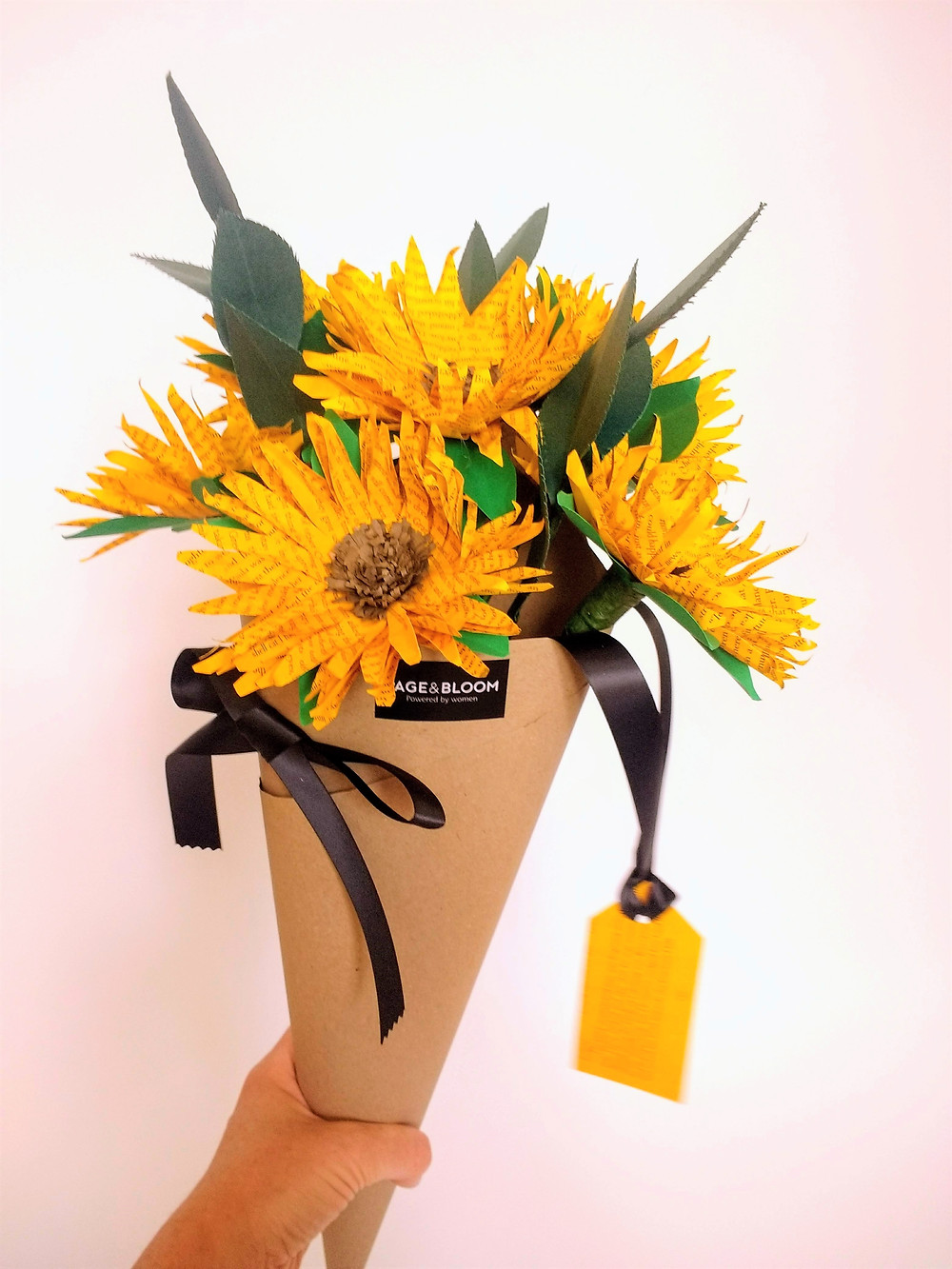 Paper sunflowers by Page & Bloom