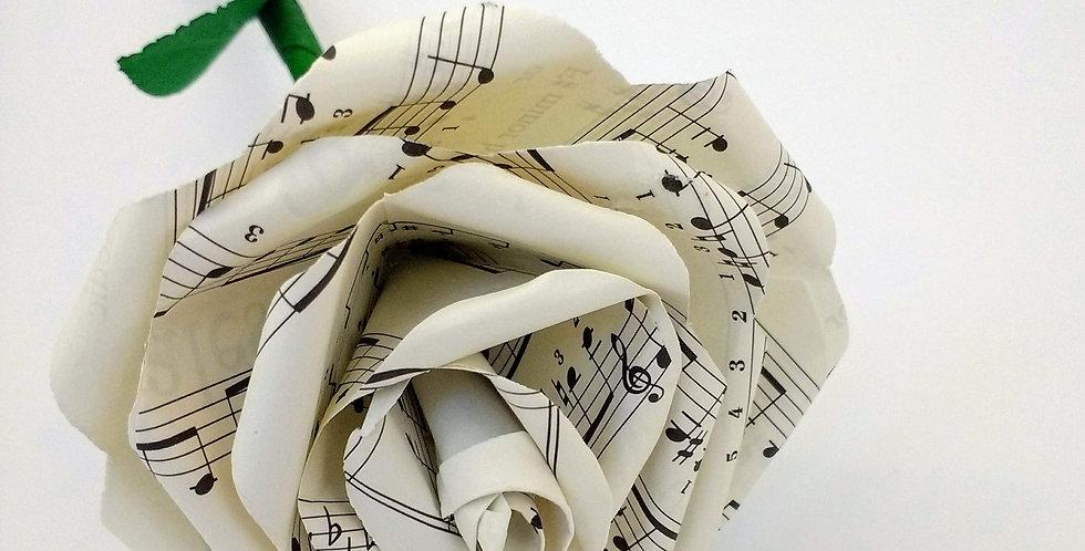 Music paper flower