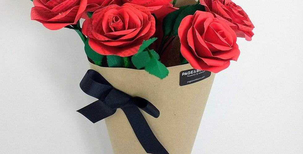 Red Valentines rose bouquet