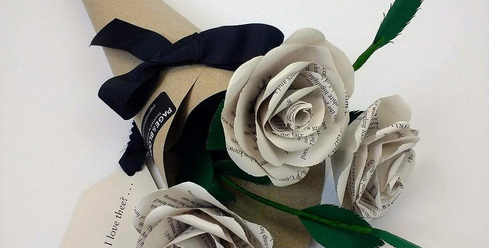 Paper rose anniversary bouquet
