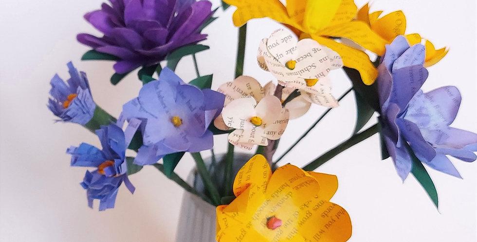 Spring paper bouquet