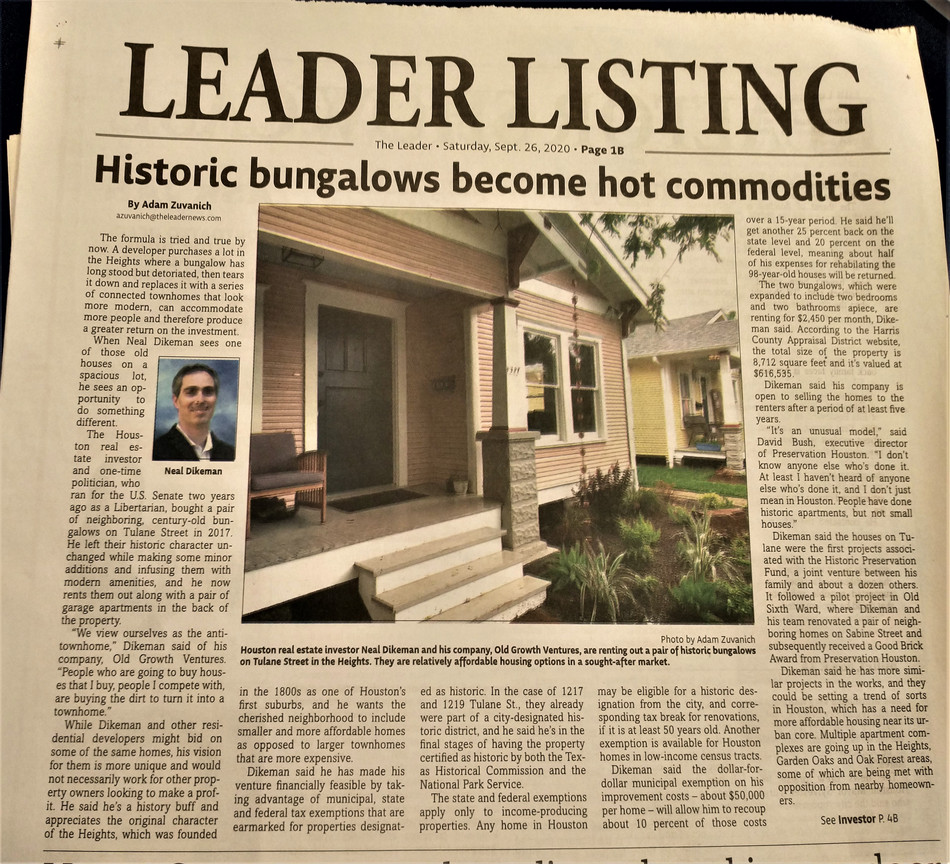 Historic Bungalows Become Hot Commodities