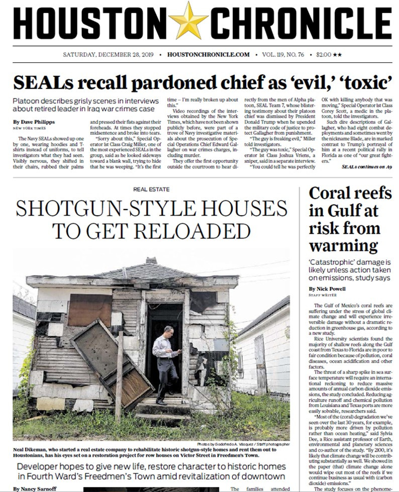 Houston Chronicle Features Historic Preservation Fund's Freedmen's Town Shotgun Rehab Project