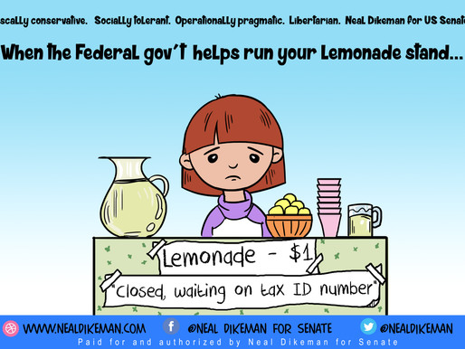 When the Federal gov't helps run your Lemonade stand
