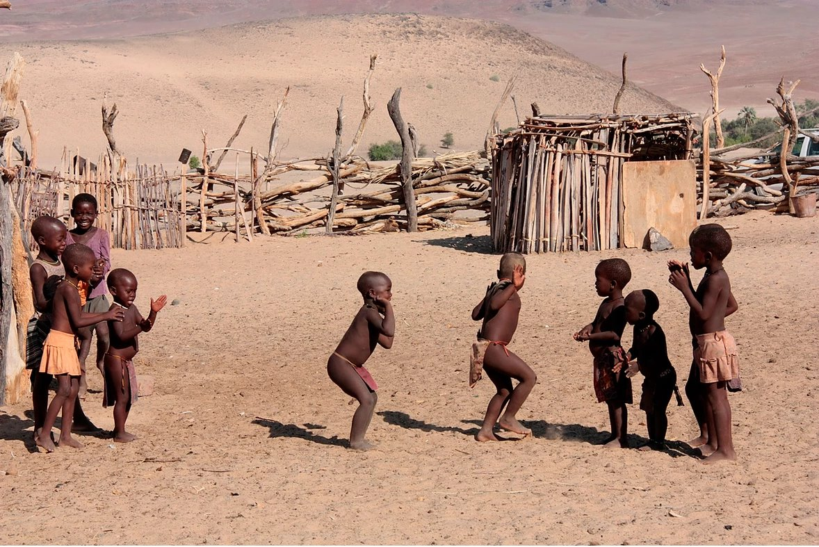 Himba children in Northern Namibia
