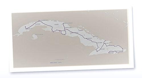 Self Drive Cuba Map