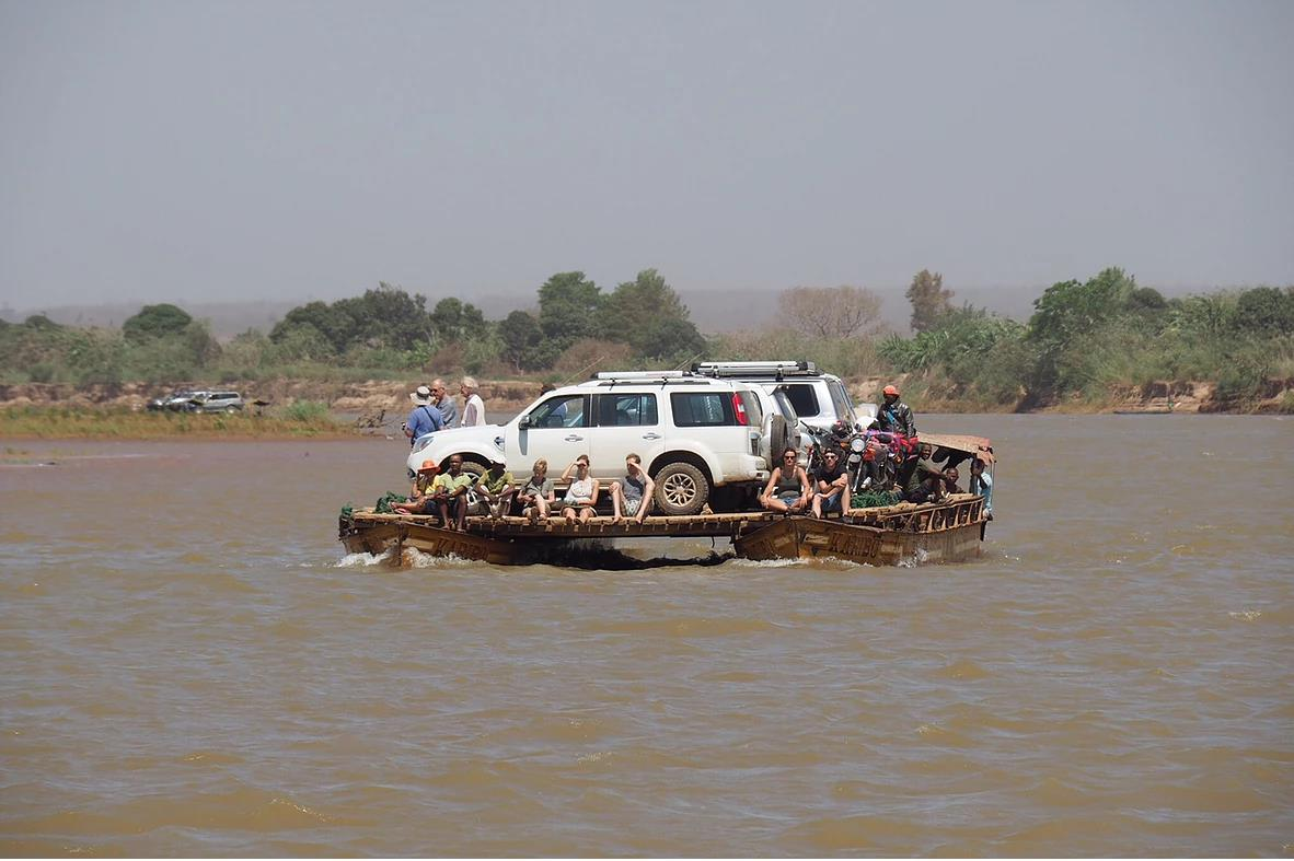 Ferry river crossing in Madagascar