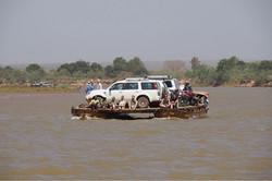 Ferry river crossing in Madagascar