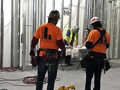 P&E construction at work Metal Stud framing.jpg
