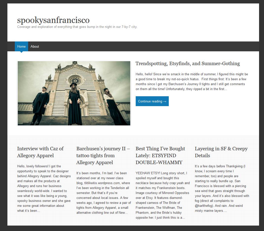 Spooky San Francisco blog