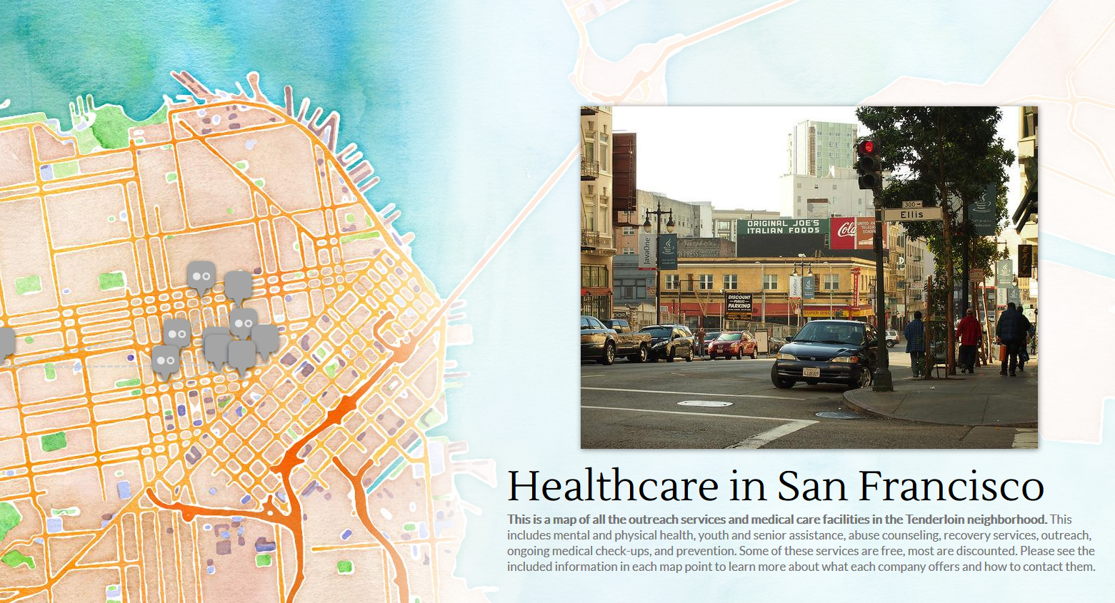 San Francisco Healthcare Map