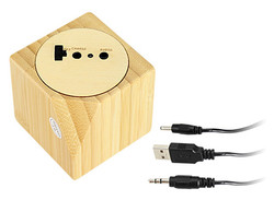 USB Parlante de Bamboo