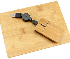 Mouse + Pad de Bamboo