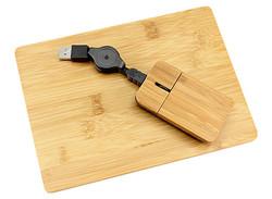 Mouse + Pad de Bamboo