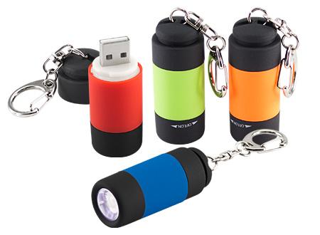 Llavero-Linterna LED Cargador USB