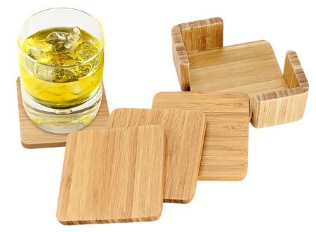 Set Posavasos de Bamboo
