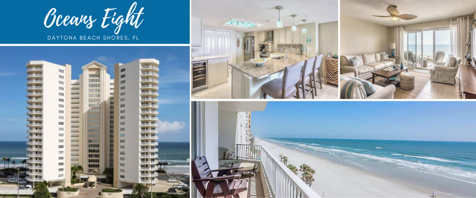 Condo Spotlight:  Oceans 8 - Daytona Beach Shores. Lock a rate in the 2's for your ocean view today!