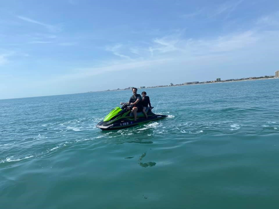Freddy Kling personal watercraft in the atlantic ocean by Ponce Inlet Florida