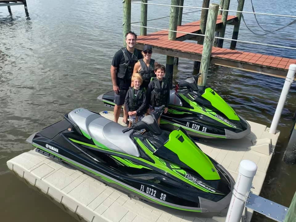 Personal watercraft on a floating dock in Port Orange
