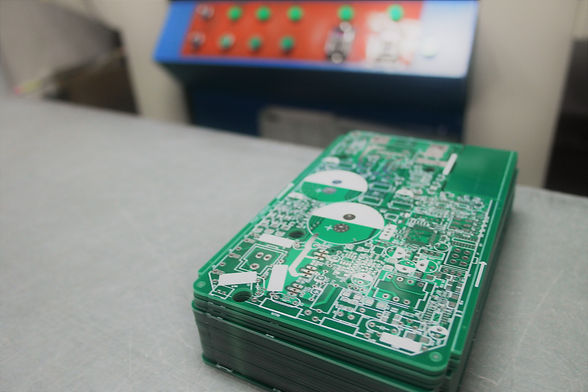 Rigid PCB in stack