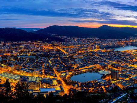 Major cities of Norway