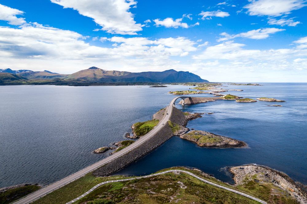 The Atlantic Ocean road from above - Top 10 tourist destinations in Norway